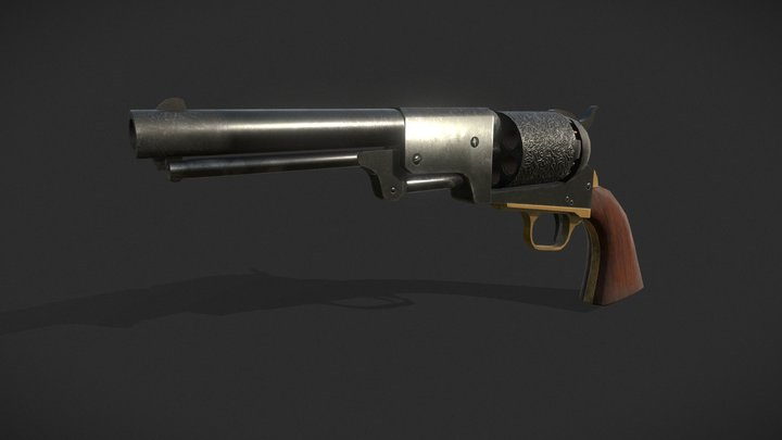 Colt Dragoon Model 3 3D Model