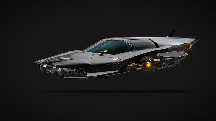 (FREE) Cyberpunk Hovercar 3D Model