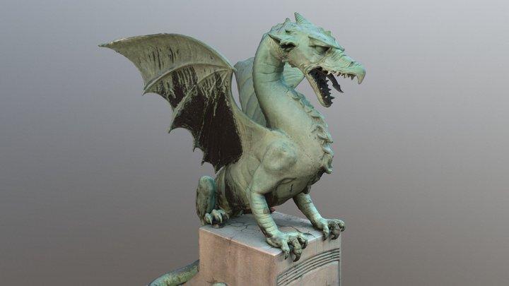 Zmajski most – the Dragon Bridge, Ljubljana 3D Model