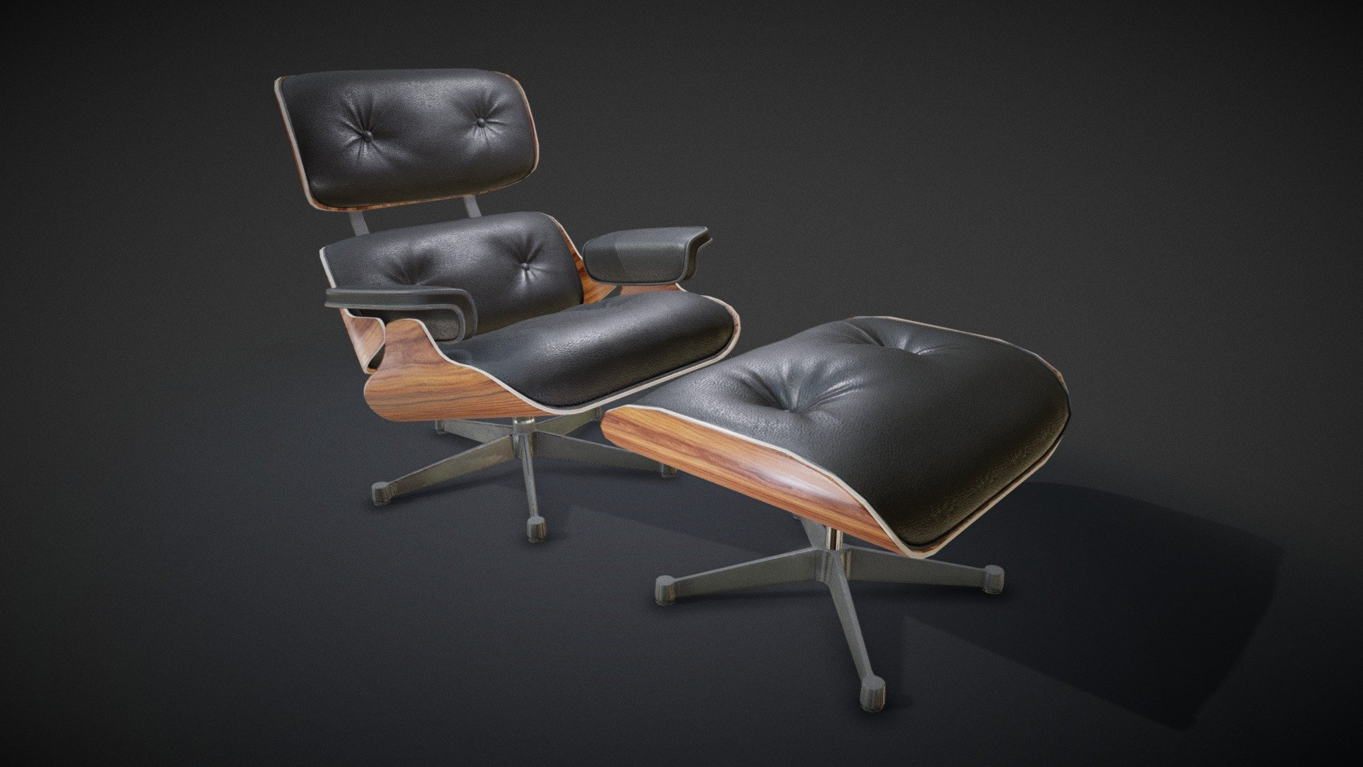 Swell Eames Lounge Chair Download Free 3D Model By Alphanode Cool Chair Designs And Ideas Alphanodeonline