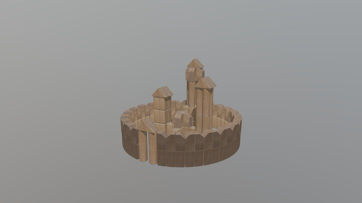 Unit Block Structure 3D Model