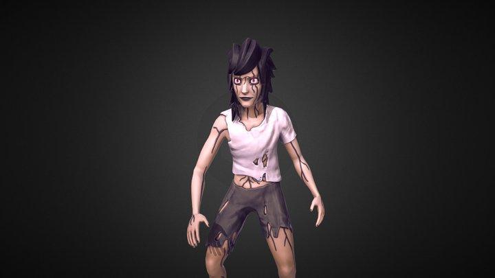 """NeverBlink"" Main Character 3D Model"