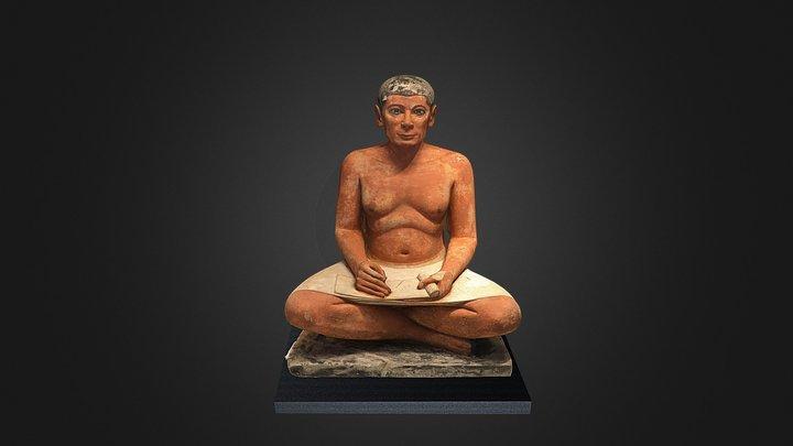 Escriba Sentado, Museo del Louvre (París) 3D Model