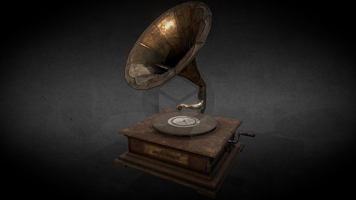 [PBR] Used Phonograph (GAMEREADY!) / Gramophone 3D Model