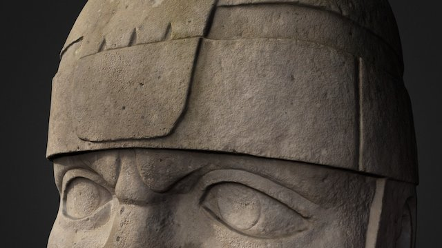 Replica Olmec Colossal Head 3D Model