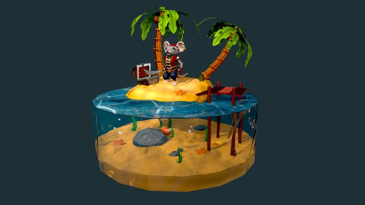 PiRat Island Diorama 3D Model