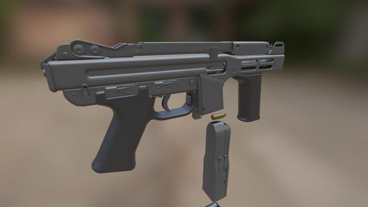 SITES Spectre M4 Submachine gun 3D Model
