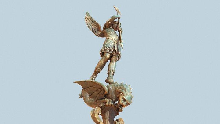 Archangel Saint-Michel (Lyon) 3D Model