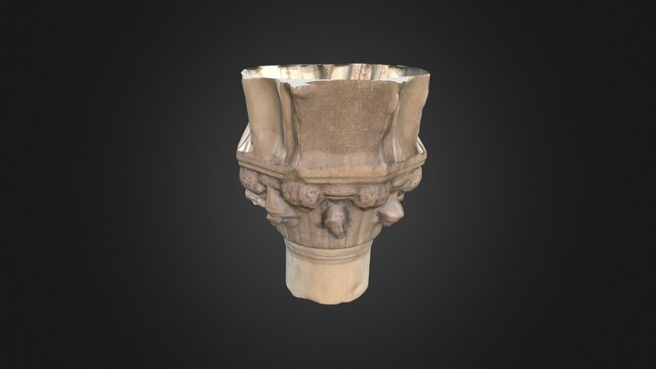Carved column from St. Mark's Square, Venice 3D Model