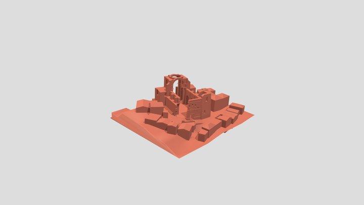 Chiesa Diruta 3D Model