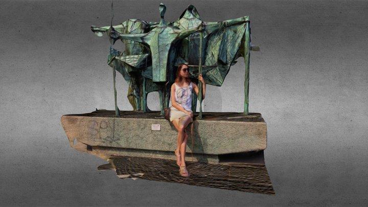 Gül at Maritim Statue - Altonaer Balkon 3D Model