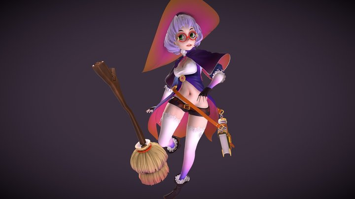 little witch highpoly 3D Model
