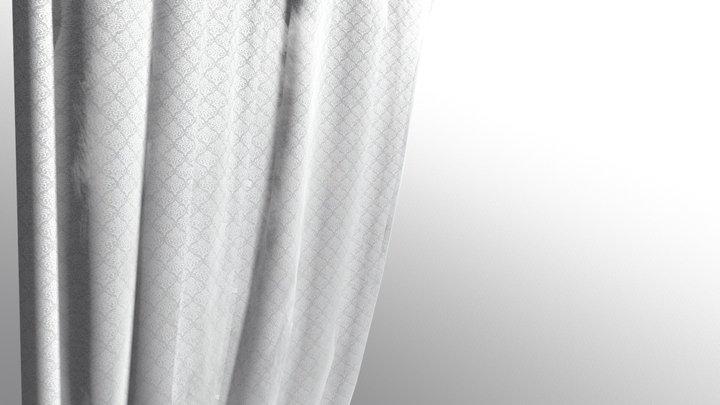 Damaged Side Curtain 3D Model
