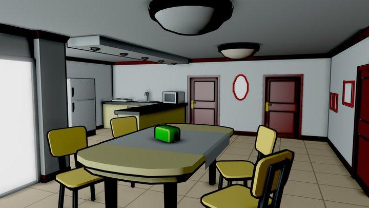 Studio Apartment 3D Model