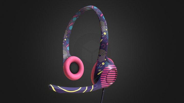 Gamer Headphones 3D Model