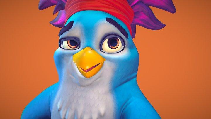 Stylised Parrot 3D Model