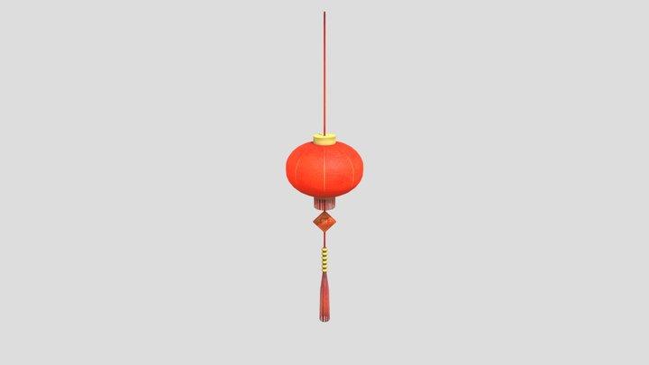 赤提灯 3D Model