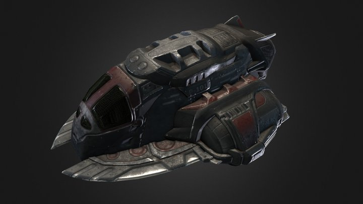 Pirate spaceship 3D Model