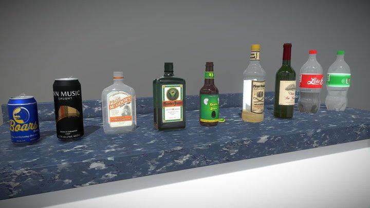 Alcoholic Beverages n Such 3D Model