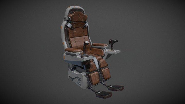 Pilot Chair Concept 3D Model
