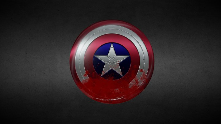 Captain America's Shield (TFATWS Version) 3D Model