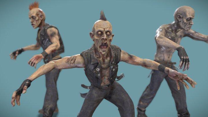 Zombie biker 3D Model
