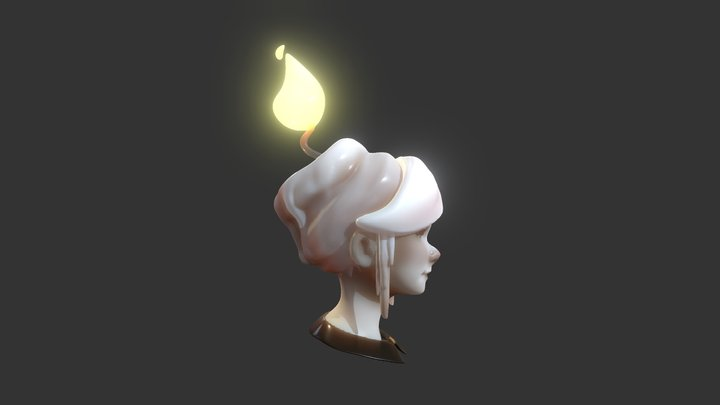 Candle girl 3D Model