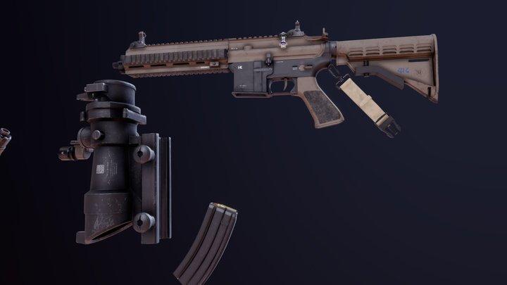 Modular HK 416 3D Model