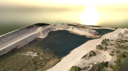 Sand quarry 3D Model