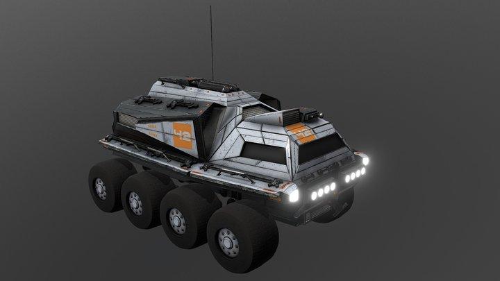 Moon & Mars Buggy - All Terrain Vehicle 3D Model