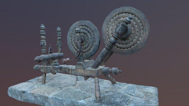 Spinning Wheel (yarn & threads) 3D Model
