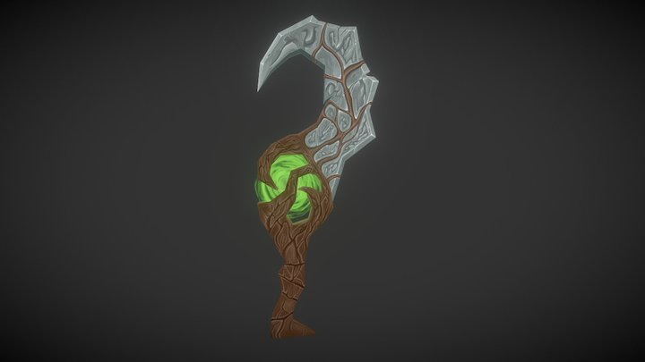 Hand-Painted Axe 3D Model