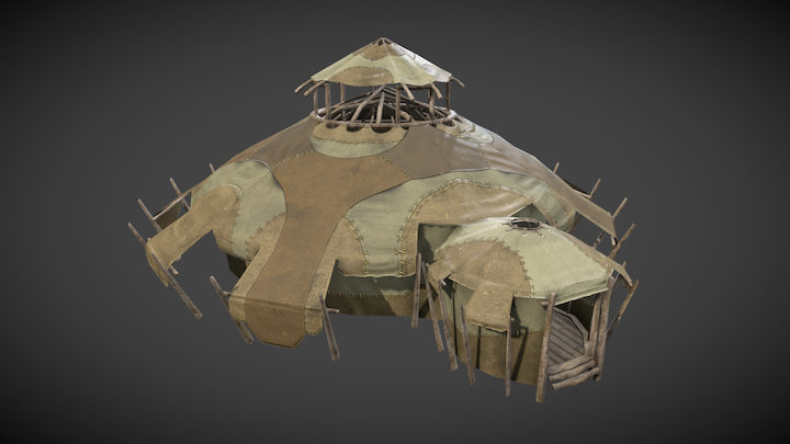 Planetouched Wilds Tent 3D Model