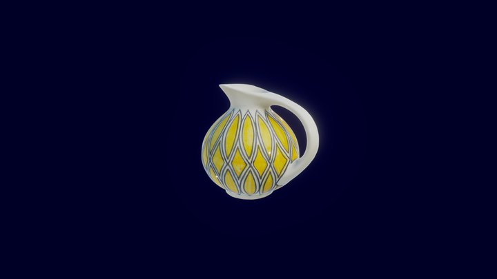 Glazed Water Jug - low poly 3D Model