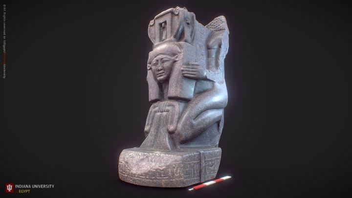 Kaemwaset Kneeling with an Emblem of Hathor 3D Model