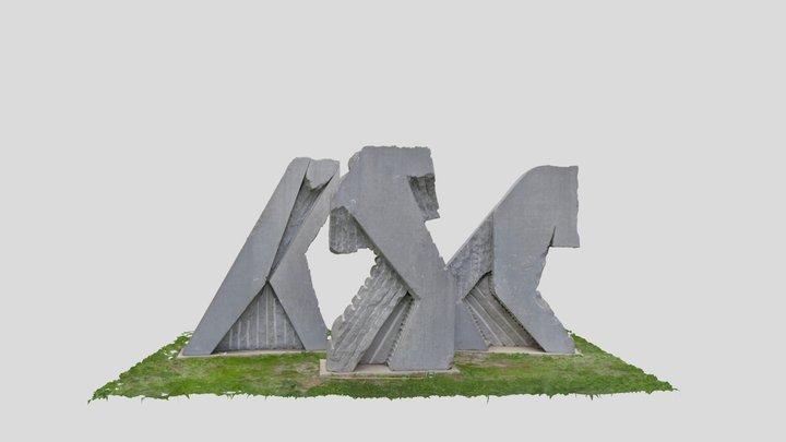 Sculpture - Eugène Dodeigne 3D Model