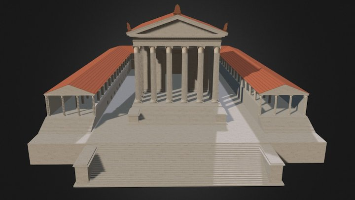 Tempio-Criptoportico UrbsSalvia, Urbisaglia (MC) 3D Model