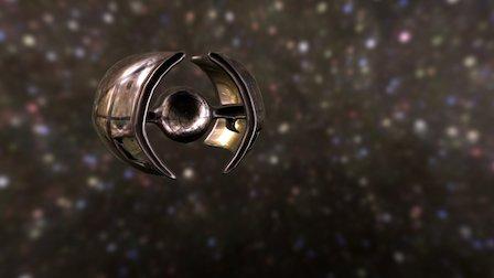 Gloss version of Enemy ship 3D Model