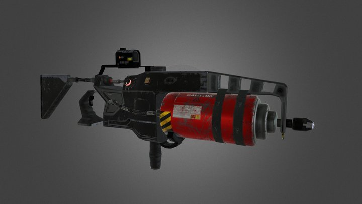 Plasma Rifle_FC61 3D Model
