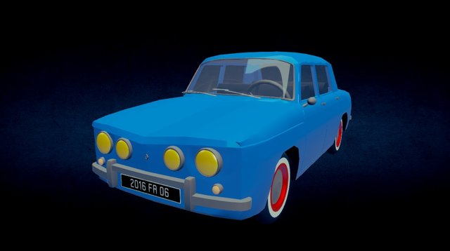Renault R8 Gordini 3D Model