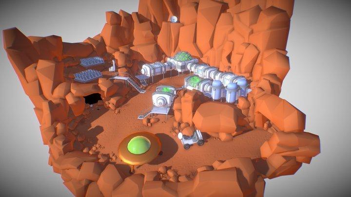 Desert planet Colony. Day 3 3D Model