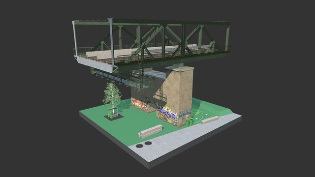 Graffiti Arch 3D Model