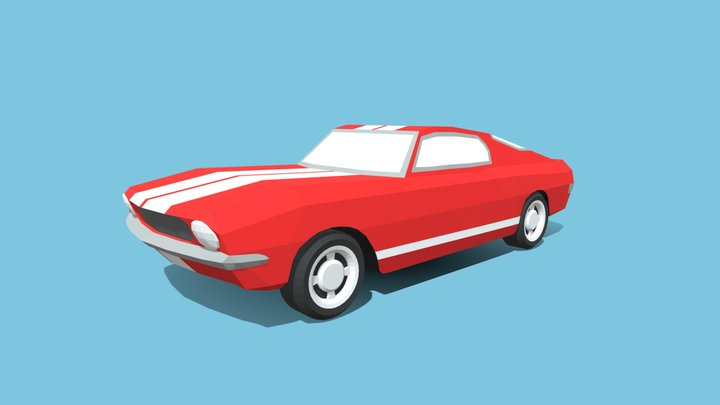 Ford Mustang 1967 - LowPoly 3D Model