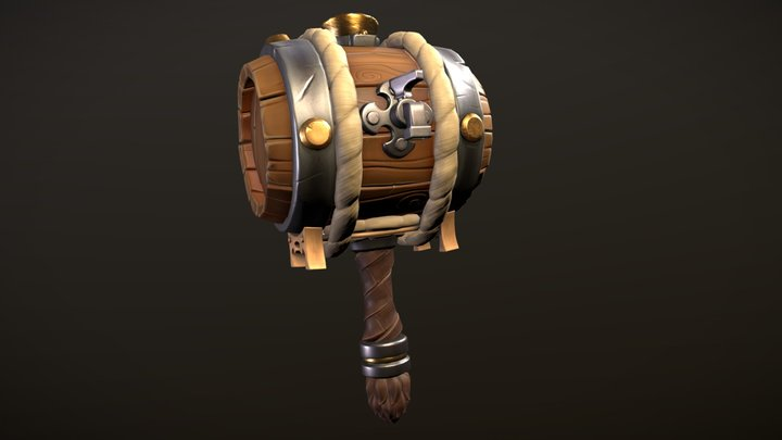 Keg Hammer 3D Model