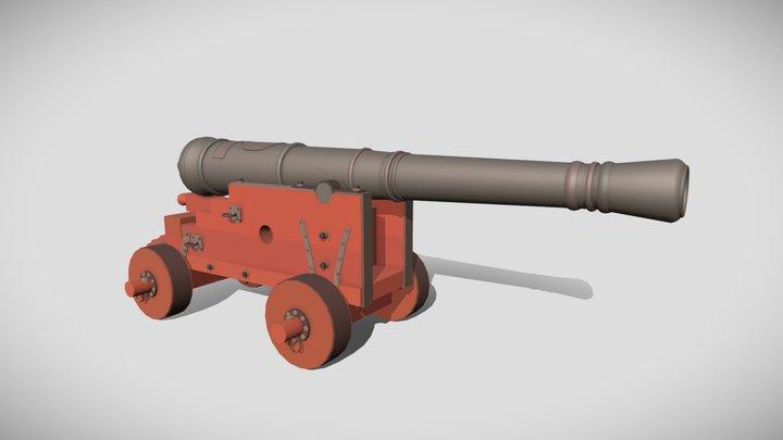 Ship cannon - XYZ HW 3D Model
