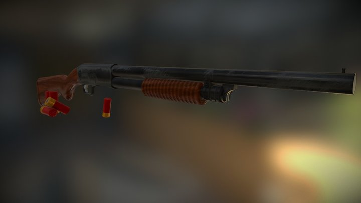 M37 Shotgun 3D Model