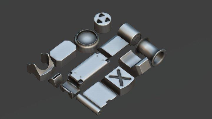 Basic Kit- Bash Vol4 3D Model