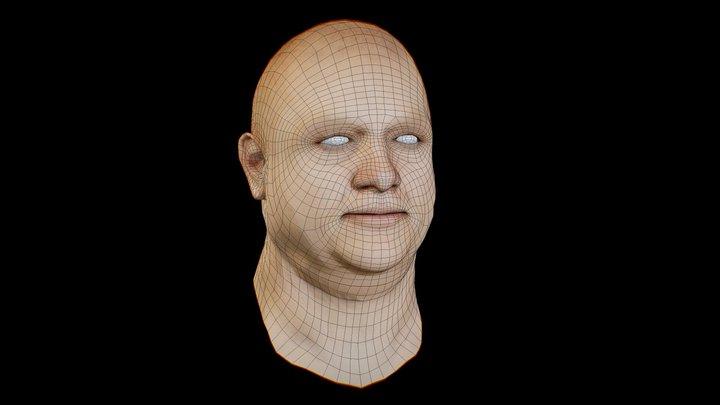 free_basemesh_head_fat man 3D Model
