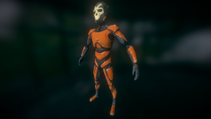 SF Character Orange 3D Model