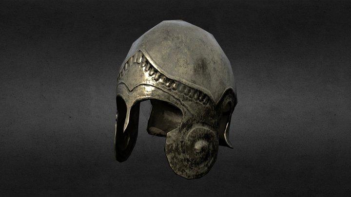 Macedonian Helmet - Low Poly. 3D Model